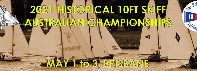 Advertising banner for 2021 Historical 10ft Skiff Australian Championships