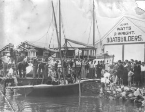 Launching a Historic 18 footer