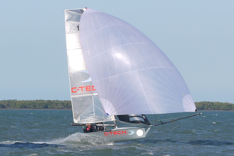 12ft skiff with spinnaker
