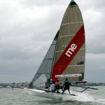 Brisbane 18 foot Skiffs in 30 knots