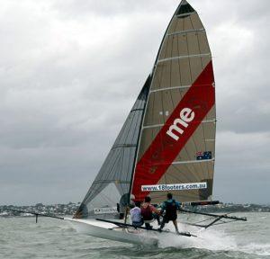 Brisbane 18 foot Skiffs in 30 knots